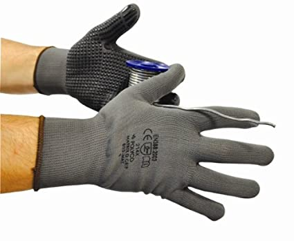 Polyco Matrix D Grip Gloves, Grey, Size Medium (8) - Pack of 12