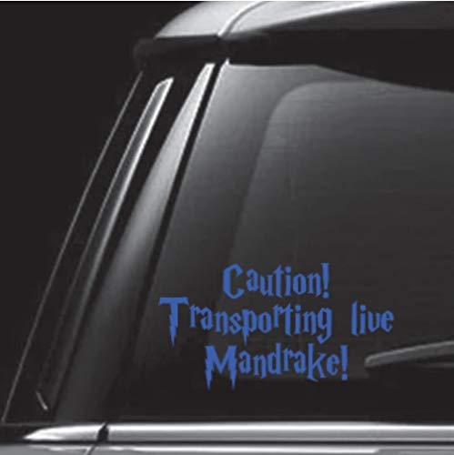 - egeek amz Caution Transporting Live Mandrake Blue Car Decal Vinyl Decal Sticker Skin Print for MacBook Laptop