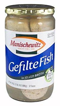 Manischewitz Gefilte Fish in Jelled Broth (Kosher for Passover), 24 Oz (Pack of 2) ()