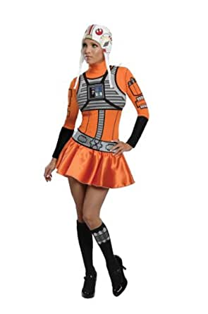 Secret Wishes Star Wars Woman's  X-Wing Fighter, Orange/Black, X-Small