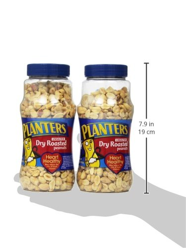 Amazon.com : Planters Peanuts, Dry Roasted & Unsalted, 16 Ounce Jar on