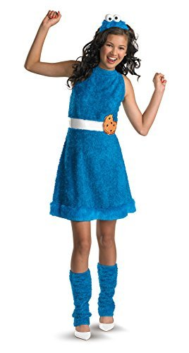 UHC Girl's Cookie Monster Funny Theme Party Fancy Dress Tween Halloween Costumes, Tween (14-16)