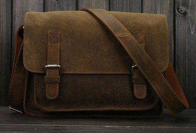 4068a2e95e Image Unavailable. Image not available for. Color  Vintage Crazy Horse  Leather Men Shoulder Bag Crossbody Bag Men s Messenger Bag Genuine ...