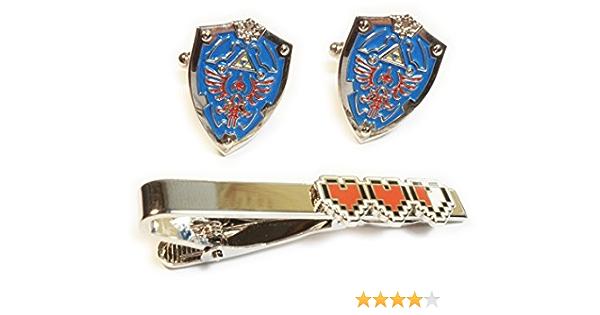 Cufflink or 2 Piece Set Tie Clip Zelda Shield