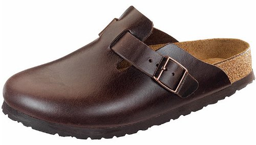 Birkenstock Unisex Boston Soft Footbed, Brown Amalfi Leather, 41 M EU