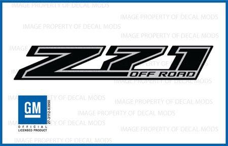 Chevy Silverado Z71 Offroad Truck Black Blackout Stickers Decals - FBLK (2014-2018) Bedside (Set of 2) ()