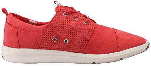 TOMS Womens Del Rey Sneaker Red Nubuck 9WmyMa