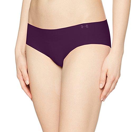 Under Armour Women's Pure Stretch Hipster Underwear, Merlot/Oxford Blue, Medium