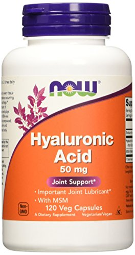 NOW Foods Hyaluronic Acid and MSM, 120-Vcaps