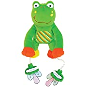 The Original PullyPalz Pacifier Holder  As Seen on Shark Tank!  Puddles the Frog
