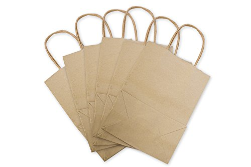 Kraft Twisted Paper - Premium Brown Kraft Paper Bag Set By Oasis Creations - 5.25