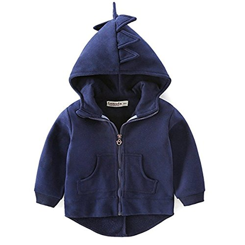 Little Boys Toddler Zip-up Long Sleeve Dinosaur Hoodies Outwear Coat Jacket (Dinosaur Hoodie)