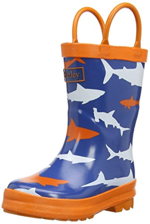 Hatley Sharks, Boys' Mid-Calf Boots, Blue, 6 UK Child