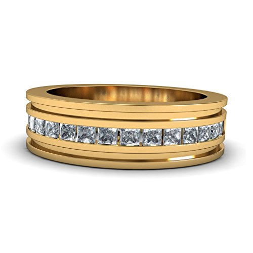 Or jaune 18 K, 0,51 CT TW Diamant Blanc (IJ | SI) en diamant