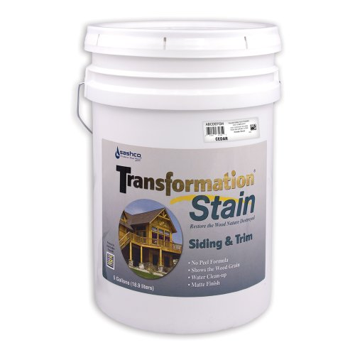 Sashco 67575 Transformation Deck and Fence Stain, 5-Gallon, Cedar