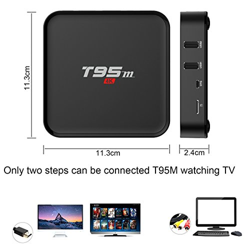 Android 7.1 TV Box, HAOSIHD T95M Smart Internet TV Box with 2GB RAM 16GB ROM, Amlogic S905X Quad Core 64 Bit WiFi Support 4K Full HD by HAOSIHD (Image #6)