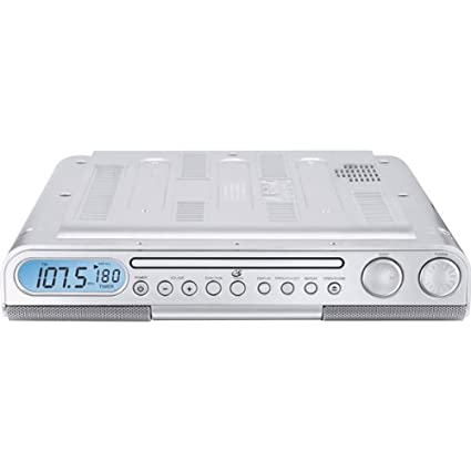 amazon com gpx kc218s under cabinet cd player with am fm stereo rh amazon com under cabinet tv radio cd player under cabinet kitchen cd player radio