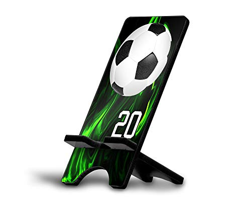 Cell Phone Stand Soccer Ball #SC011 Personalized Player Jersey Number On A Universal Docking Charging Station Stand Customized by TYD Designs Number 20