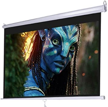 Pyle PRJSM7206 Universal 72-Inch Roll-Down Pull-Down Manual Projection Screen 4