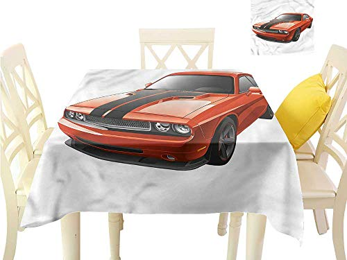 WilliamsDecor Dinning Tabletop Decoration Boys Room,Modern Muscle Car Exotic Dining Table Cover W 60
