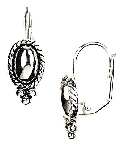 Napier Oval Earrings - Napier Oval Beaded Drop Earrings One Size