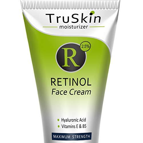 TruSkin RETINOL Cream MOISTURIZER for Face and Eye Area, Best for Wrinkles, Fine Lines - Vitamin A, E, B5, Hyaluronic Acid, Organic Jojoba Oil, Green Tea. 2.0 Fl Oz