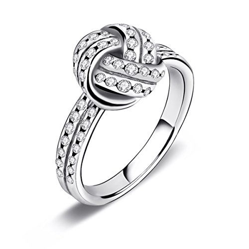 Twenty Plus Sparkling Love Knot Weave Finger Ring For Women & Girls Promise Ring Fashion Jewelry