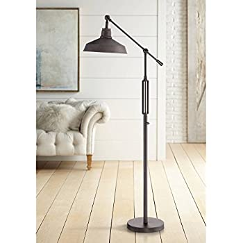 Turnbuckle Industrial Downbridge Floor Lamp Led Oil Rubbed Bronze Adjustable Metal Shade For