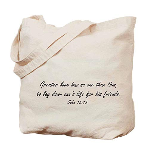 Bible handbag- tote bag,shopping bag,beach bag - fashion bag - 14x17in-John 1513, Greater Love Has No One Than This To Lay Down Ones Life for His Friends (Lay Down His Life For A Friend)
