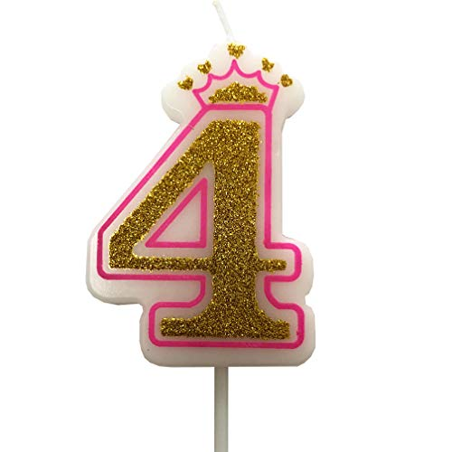 number 4 birthday candle - 8