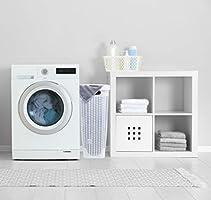 Superio Palm Luxe Narrow Laundry Hamper White 1.15 Bushel
