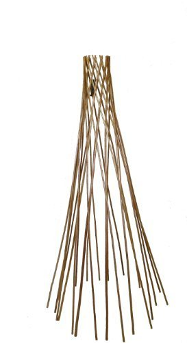 Master Garden Products Carbonized Barkless Peeled Willow Round