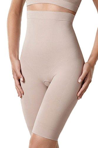 Plie 50069 Control Bermudas High Waits Shorts Moldeadores De Cintura Muy Alta Sin Costuras - Hechos En La UE beige claro