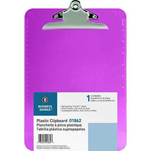 Bracelets Opaque Plastic - Business Source Plastic Clipboard