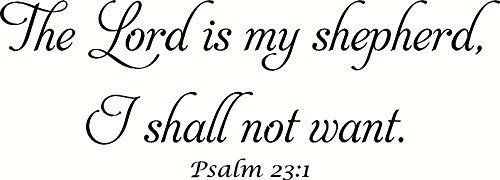 Psalm 23:1 V1 Bible Verse Wall Art, The Lord Is My Shepherd, I Shall Not Want…