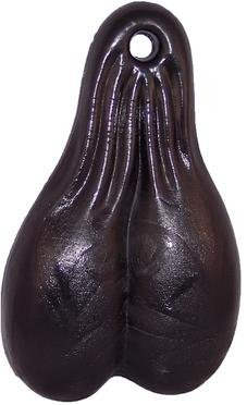 Solid Color-Black 4 Tall Series Bulls Balls Biker Nuts Made in USA