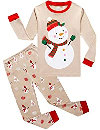Girls Boys Christmas Pajamas Sets 100% Cotton Holiday Pyjamas
