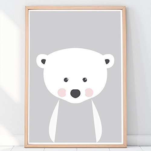 d09fa1ee5553c Amazon.com: Nursery decor, polar bear, nursery poster, animals for ...