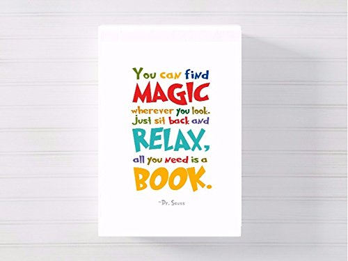 dr seuss quote a3 canvas picture nursery gift watercolour paint splatter ready to hang gnp