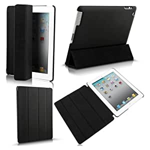 Black Slim Flip Folding Foldable Magnetic Smart Case Stand Cover Automatically Wake up Sleep for iPad 2 New iPad 3