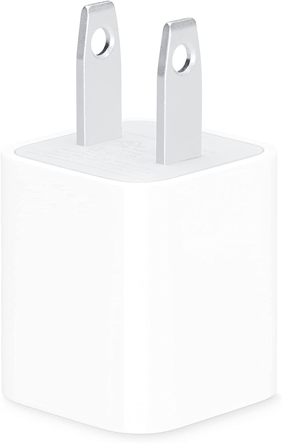 5 W USB Power Adapter Plug Charging Cube for All iPhone, iPod Touch (Apple MFi Certified)