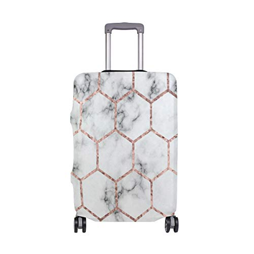 (Suitcase Cover Marble With Lattice Luggage Cover Travel Case Bag Protector for Kid Girls)