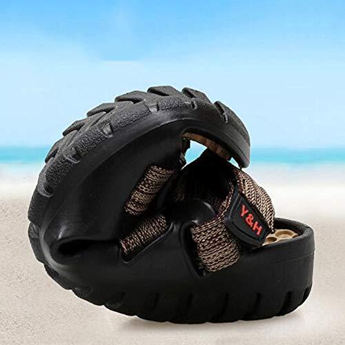 Playa Verano De Zcp Khaki Hombres Para Sandalias Black Zapatos Playa Zapatillas x8R1Rwq