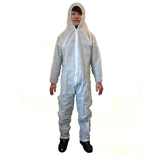 [해외](TUISKU) 부 직 포 바인더 일회용 작업복 보호복 3 매 세트 선택할 수 있는 사이즈 M-XL / (TUISKU) Nonwoven Fabric Connecting Disposable Work Wear Protective Clothing 3 pieces Set Size M - XL
