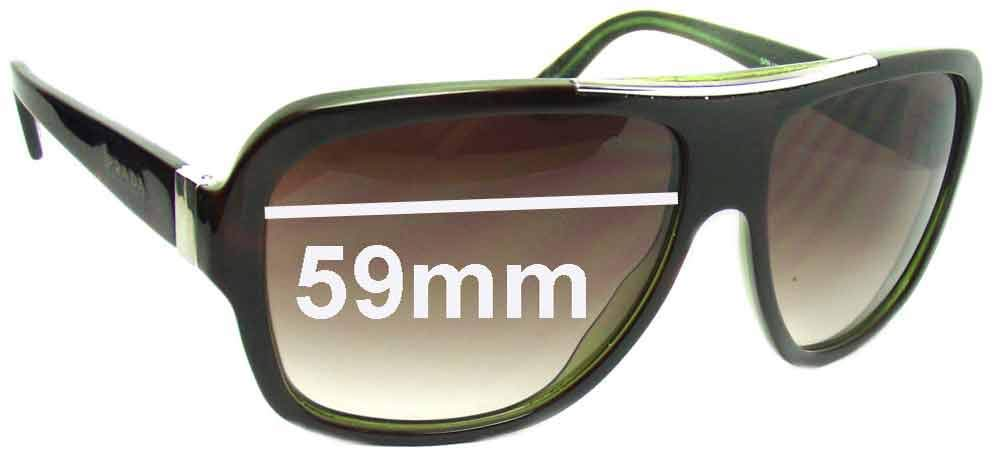 31824502607e0 Amazon.com  SFx Replacement Sunglass Lenses fits Prada SPR17L 59mm wide lens  (Polycarbonate Clear Hardcoat Pair-Regular)  Clothing