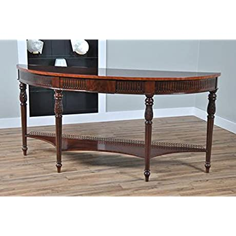 Dark Brown French Style Console Table