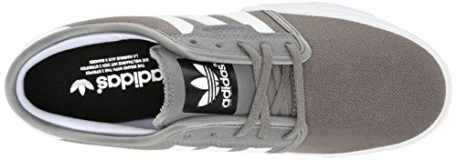 Adidas Heren Seeley Mid Sintel / Running Wit / Zwart (canvas)