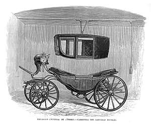 Grabado antiguo (1862) - Xilografía - Londres.- Exposición Universal : Carruaje Con Cabecera Movible (13x15.5), Desconocido