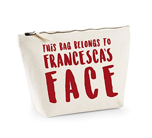 Cosmetics Print rosso Appartiene Organiser naturale Up Make Bag a personalizzato Accessory Kelham e Nome ZFIaqqC
