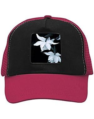 Unisex Greenish Lily Flower Adjustable Classic Hiphop Hat Baseball Cap Snapback Dad Hat